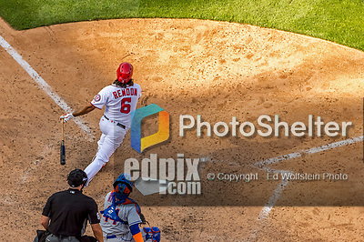30 April 2017: Washington Nationals third baseman Anthony Rendon hits his third homer, notching his 10th RBI of the day in the 8th inning against the New York Mets at Nationals Park in Washington, DC. The Nationals defeated the Mets 23-5, with the Nationals setting several individual and team records, in the third game of their weekend series. Mandatory Credit: Ed Wolfstein Photo *** RAW (NEF) Image File Available ***