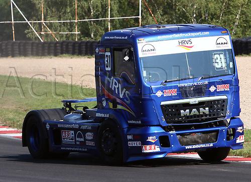 28.08.2015. Most, Czech Republic. FIA European Truck Racing Championship. Czech Truck Prix.<br /> Mathew SUMMERFIELD (GB), MAN,