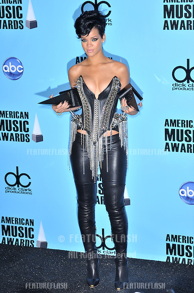 Rihanna at the 2008 American Music Awards at the Nokia Live! Theatre in Los Angeles..November 23, 2008  Los Angeles, CA.Picture: Paul Smith / Featureflash