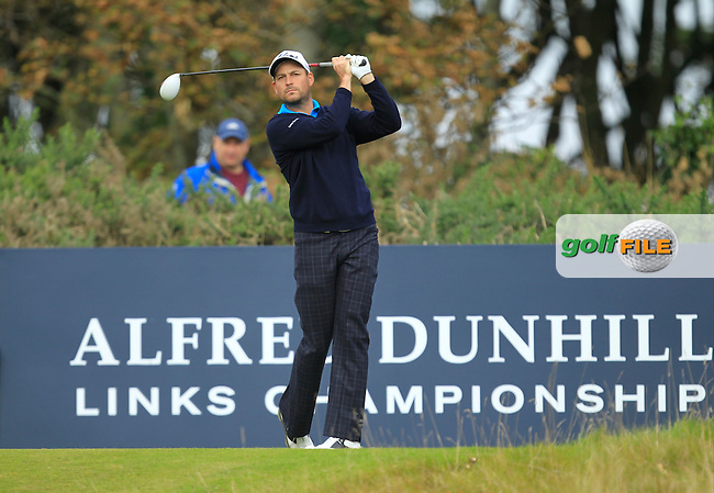 David Howell during Round 2 of the Alfred Dunhill Links Championship at Kingsbarns Golf Club on Friday 27th September 2013.<br /> Picture:  Thos Caffrey / www.golffile.ie