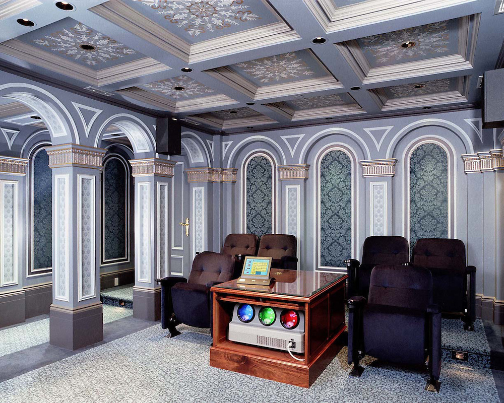 Classic Columns And Custom Ceiling