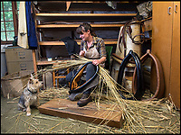 BNPS.co.uk (01202 558833)<br /> Pic: PhilYeomans/BNPS<br /> <br /> Horse harness maker Kate Hetherington from Devon.<br /> <br /> The Heritage Craft Association have released a 'Red list' of Britains most critically endagered crafts and craftsmen.<br /> <br /> The list highlights some age old skills that are in grave danger of becoming extinct in the country formely known as the 'Workshop of the World'.<br /> <br /> According to research carried out on behalf of the HCA, four crafts have become extinct in the UK in the past 10 years &ndash; cricket ball making, gold beating, lacrosse stick making and sieve and riddle making.<br /> <br /> A further 17 crafts are classified as 'critically endangered' since they have only a handful of practitioners and few have any trainees. <br /> <br /> These include saw making, hat block making, horse collar making, paper marbling, piano making and making wooden planes for furniture. <br /> <br /> However, there are artisans scattered around the country keeping these traditional crafts alive who have long waiting lists because there is still a demand for their very specialised skills.