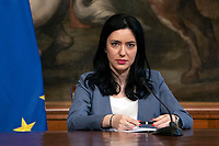 The Italian Minister of Instruction Lucia Azzolina during a press conference at Palazzo Chigi to explain the new measures for the School. Rome (Italy), June 26th 2020<br /> Foto Pool Antonio Masiello/ Insidefoto