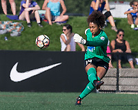 Boston, MA - Saturday August 19, 2017: Abby Smith during a regular season National Women's Soccer League (NWSL) match between the Boston Breakers (blue) and the Orlando Pride (white/light blue) at Jordan Field. Orlando Pride defeated Boston Breakers, 2-1.