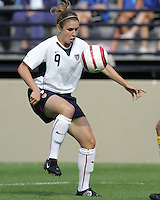 10 July 2005:  Heather O'Reilly of USA in action against Ukraine at Merlo Field at University of Portland in Portland, Oregon.    USA defeated Ukraine, 7-0.   Credit: Michael Pimentel / ISI