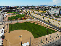 Synthetic grass fields, softball, big league dreams.<br /> campos de pasto sintetico, softboll,  big league dreams.<br /> <br /> Paisaje urbano, paisaje de la ciudad de Hermosillo, Sonora, Mexico.<br /> Urban landscape, landscape of the city of Hermosillo, Sonora, Mexico.<br /> (Photo: Luis Gutierrez /NortePhoto)