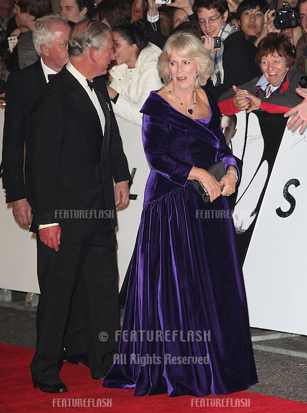 HRH Camilla, Duchess of Cornwall and Prince Charles arriving for the Royal World Premiere of 'Skyfall' at Royal Albert Hall, London. 23/10/2012 Picture by: Alexandra Glen / Featureflash