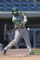 Fort Wayne TinCaps outfielder Rod Boykin (3) swings the bat against the West Michigan Michigan Whitecaps during the Midwest League baseball game on April 26, 2017 at Fifth Third Ballpark in Comstock Park, Michigan. West Michigan defeated Fort Wayne 8-2. (Andrew Woolley/Four Seam Images)