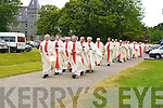 Kerry priests march into St Mary's Cathdral on sunday