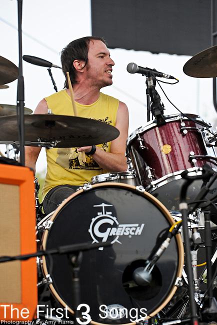 Daren Taylor of Airborne Toxic Event performs at the Bunbury Music Festival in Cincinnati, Ohio.