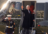 Washington, D.C. - March 8, 2007 -- United States President George W. Bush and first lady Laura Bush depart the South Lawn of the White House in Washington, D.C. on Thursday, March 8, 2007 for his trip to South and Central America.<br /> Credit: Ron Sachs - Pool