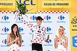 Warren Barguil (FRA) Team Sunweb retains the Polka Dot Jersey at the end of Stage 19 of the 104th edition of the our de France 2017, running 222.5km from Embrun to Salon-de-Provence, France. 21st July 2017.<br /> Picture: ASO/Alex Broadway | Cyclefile<br /> <br /> <br /> All photos usage must carry mandatory copyright credit (&copy; Cyclefile | ASO/Alex Broadway)