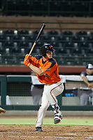 AZL Giants third baseman Jacob Gonzalez (52) at bat against the AZL Padres 2 on July 13, 2017 at Scottsdale Stadium in Scottsdale, Arizona. AZL Giants defeated the AZL Padres 2 11-3. (Zachary Lucy/Four Seam Images)