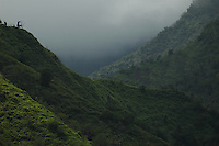 Mountains and mist on the island of Kaui, Hawaii.  Shot on location with Idanha Films.