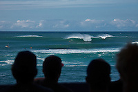 HONOLULU/Oahu/Hawaii.(Dec 2, 2011) -- The $250,000 Vans World Cup of Surfing wrapped up today in 10 -12' -foot surf at Sunset Beach on Oahu's North Shore. Local surfer John John Florence (HAW) took out the final from Michel Bourez (PYF) in second, Australia's Adam Melling in third and Hank Gaskell (HAW) in fourth. The final was a barrel riding contest with the lead changing a number of times before Florence combo the firld with two long deep tubes. Waves were in the mid size range for most of the day with strong side shore Trade winds. The Vans World Cup is the second leg of the 29th annual Vans Triple Crown of Surfing, presented by Rockstar Energy Drink.. Photo: joliphotos.com