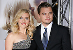 "WESTWOOD, CA. - December 15: Actress Kate Winslet and Actor Leonardo DiCaprio arrive at the Los Angeles premiere of ""Revolutionary Road"" held at the Mann Village Theater on December 15, 2008 in Westwood, California."