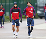 England's Andros Townsend and Dylan Duncan during training at Tottenham Hotspur training centre, London. Picture date November 14th, 2016 Pic David Klein/Sportimage