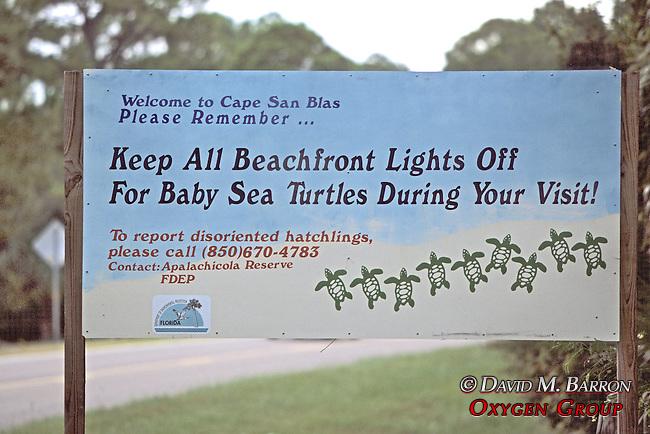 Keep Lights Off Turtle Sign