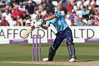 Matt Fisher in batting action for Yorkshire during Essex Eagles vs Yorkshire Vikings, Royal London One-Day Cup Play-Off Cricket at The Cloudfm County Ground on 14th June 2018