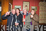 TOASTING: Cheers by Eddie O'Mahony, Agnes Godley,Pat O'Carroll and Elaine O'Carroll at Tóchar Bar, Kilmoyley on Saturday night as the 2012 approaches...