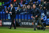 Bolton Wanderers' manager Phil Parkinson and Fulham's manager Slavisa Jokanovic vent their frustration<br /> <br /> Photographer Andrew Kearns/CameraSport<br /> <br /> The EFL Sky Bet Championship - Bolton Wanderers v Fulham - Saturday 10th February 2018 - Macron Stadium - Bolton<br /> <br /> World Copyright &copy; 2018 CameraSport. All rights reserved. 43 Linden Ave. Countesthorpe. Leicester. England. LE8 5PG - Tel: +44 (0) 116 277 4147 - admin@camerasport.com - www.camerasport.com