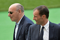 Giuseppe Marotta Direttore Sportivo Juventus, Massimiliano Allegri <br /> Roma 12-08-2017 Stadio Olimpico <br /> Ricognizione Juventus <br /> Foto Andrea Staccioli Insidefoto