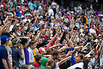 FOXBORO, MA - MAY 28: A general view of fans in the stands during the Division II Men's Lacrosse Championship held at Gillette Stadium on May 28, 2017 in Foxboro, Massachusetts. (Photo by Larry French/NCAA Photos via Getty Images)