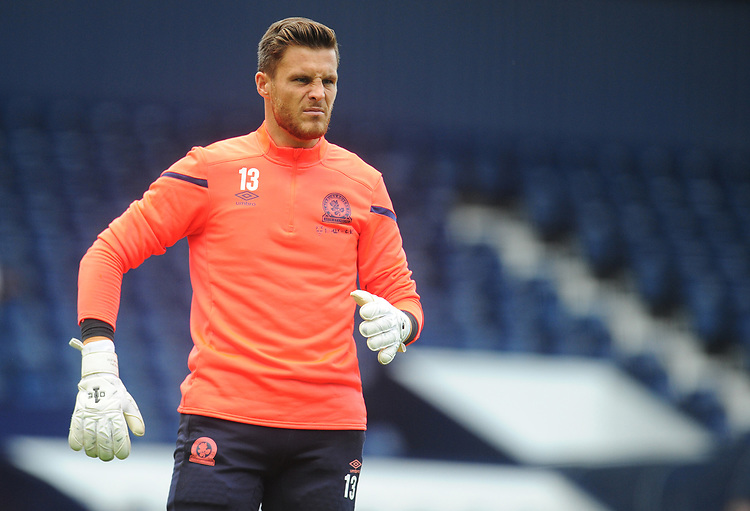 Blackburn Rovers' Jayson Leutwiler during the pre-match warm-up <br /> <br /> Photographer Kevin Barnes/CameraSport<br /> <br /> The EFL Sky Bet Championship - West Bromwich Albion v Blackburn Rovers - Saturday 31st August 2019 - The Hawthorns - West Bromwich<br /> <br /> World Copyright © 2019 CameraSport. All rights reserved. 43 Linden Ave. Countesthorpe. Leicester. England. LE8 5PG - Tel: +44 (0) 116 277 4147 - admin@camerasport.com - www.camerasport.com