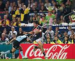 Hong Kong play Uruguay during Day 1 of the Cathay Pacific / HSBC Hong Kong Sevens 2012 at the Hong Kong Stadium in Hong Kong, China on 23rd March 2012. Photo © Manuel Queimadelos  / The Power of Sport Images