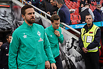 17.03.2019, BayArena, Leverkusen, GER, 1. FBL, Bayer 04 Leverkusen vs. SV Werder Bremen,<br />  <br /> DFL regulations prohibit any use of photographs as image sequences and/or quasi-video<br /> <br /> im Bild / picture shows: <br /> auflaufen Bremer <br /> <br /> Foto © nordphoto / Meuter
