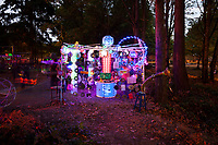 Magical Light Art Installation, Arts-A-Glow Festival, Dottie Harper Park, Burien, WA, USA.