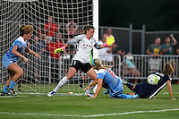 Piscataway, NJ - Saturday Aug. 27, 2016: Arin Gilliland, Alyssa Neher, Julie Johnson, Sarah Killion during a regular season National Women's Soccer League (NWSL) match between Sky Blue FC and the Chicago Red Stars at Yurcak Field.