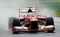 MELBOURNE, AUSTRALIA, 16 MARÇO 2013 - F1 - TREINO CLASSIFICATORIO GP AUSTRALIA -  O piloto espanhol Fernando Alonso da Ferrari durante os treinos classificatórios para o Grande Prêmio da Austrália de Fórmula 1, realizado em Albert Park, na cidade de Melbourne, neste sábado (16). (FOTO: PIXATHLON / BRAZIL PHOTO PRESS).