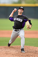 Colorado Rockies pitcher Josh Michalec (15) during an Instructional League game against the Arizona Diamondbacks on October 8, 2014 at Salt River Fields at Talking Stick in Scottsdale, Arizona.  (Mike Janes/Four Seam Images)