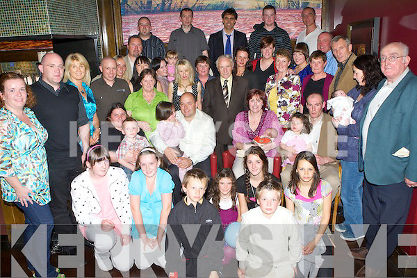 Celebrations - Tony & Mary Heffernan from Keel, seated centre having a wonderful time with family and friends at the Christening celebrations of their son Liam on Saturday afternoon in Gallys Bar & Restaurant, Castlemaine Rd............... ........................   Copyright Kerry's Eye 2008