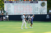 Brooks Koepka (USA) walks the 18th hole during the third round of the 100th PGA Championship at Bellerive Country Club, St. Louis, Missouri, USA. 8/11/2018.<br /> Picture: Golffile.ie | Brian Spurlock<br /> <br /> All photo usage must carry mandatory copyright credit (&copy; Golffile | Brian Spurlock)