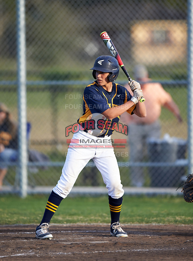 Boca Ciega Pirates Nathan Campbell (4) during a game against the Lakeland Spartans at Boca Ciega High School on March 2, 2016 in St. Petersburg, Florida.  Boca Ciega defeated Lakewood 2-1.  (Mike Janes/Four Seam Images)