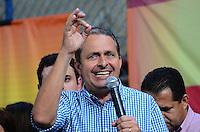RIO DE JANEIRO, RJ, 13 DE JULHO DE 2013 -GOVERNADOR EDUARDO CAMPOS NO RJ- O Governador de Pernambuco e Presidente nacional do PSB, Eduardo Campos, participa do encontro nacional de militantes e parlamentares do PSB, no clube Municipal, na Tijuca, zona norte do Rio de Janeiro na tarde deste sábado,13.FOTO:MARCELO FONSECA/BRAZIL PHOTO PRESS