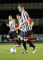Jon Robertson in the St Mirren v Dunfermline Athletic Clydesdale Bank Scottish Premier League U20 match played at St Mirren Park, Paisley on 2.10.12.