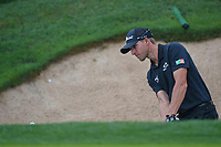 Richy Werenski (USA) hits from the trap on 18 during day 3 of the Valero Texas Open, at the TPC San Antonio Oaks Course, San Antonio, Texas, USA. 4/6/2019.<br /> Picture: Golffile | Ken Murray<br /> <br /> <br /> All photo usage must carry mandatory copyright credit (© Golffile | Ken Murray)
