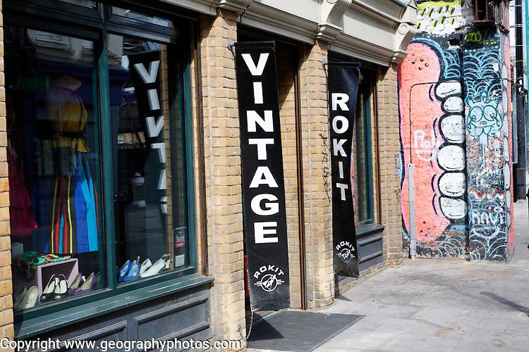 Rokit vintage clothes shop, Brick Lane, London