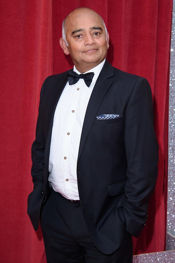 Bhasker Patel<br /> arriving for the British Soap Awards 2018 at the Hackney Empire, London<br /> <br /> ©Ash Knotek  D3405  02/06/2018