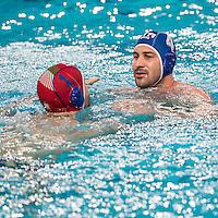 Stefano Tempesti Pietro Figlioli cheers for olympic qualification<br /> FINA Men's Water Polo Olympic Games Qualifications Tournament 2016<br /> quarter final<br /> Romania ROU (White) Vs Italy ITA (Blue)<br /> Trieste, Italy - Swimming Pool Bruno Bianchi<br /> Day 06  08-04-2016<br /> Photo G.Scala/Insidefoto/Deepbluemedia