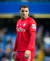 Troy Deeney of Watford ahead of the Premier League match between Chelsea and Watford at Stamford Bridge, London, England on 21 October 2017. Photo by Andy Rowland.