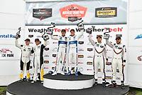 #3 Corvette Racing Chevrolet Corvette C7.R, GTLM: Antonio Garcia, Jan Magnussen, #66 Chip Ganassi Racing Ford GT, GTLM: Dirk Müller, Joey Hand, #912 Porsche Team North America Porsche 911 RSR, GTLM: Laurens Vanthoor, Earl Bamber