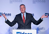 Mayor Bill de Blasio (Democrat of New York City) makes remarks at the Center for American Progress' 2018 Ideas Conference at the Renaissance Hotel in Washington, DC on Tuesday, May 15, 2018.<br /> Credit: Ron Sachs / CNP <br /> (RESTRICTION: NO New York or New Jersey Newspapers or newspapers within a 75 mile radius of New York City)