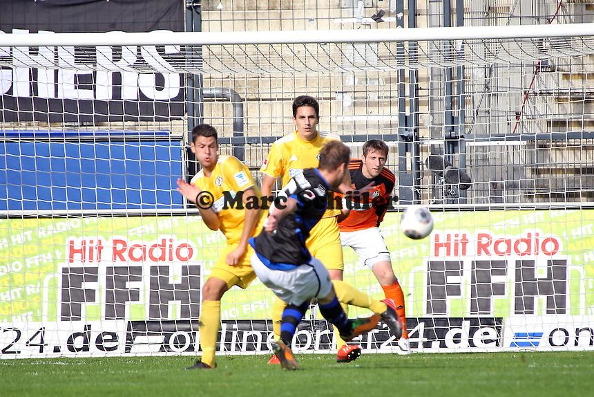Manuel Konrad (FSV) zieht ab - FSV Frankfurt vs. VfR Aalen, Frankfurter Volksbank Stadion
