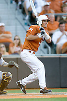 Texas Longhorns outfielder Jonathan Walsh #33 at bat against the Arizona State Sun Devls in NCAA Tournament Super Regional baseball on June 10, 2011 at Disch Falk Field in Austin, Texas. (Photo by Andrew Woolley / Four Seam Images)