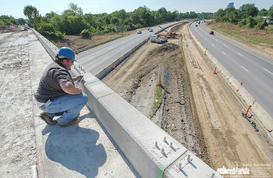 The Dempsey Road bridge over I-270 in Westerville, Ohio, is being rebuilt as part of a widening and addition of new lanes to the interstate road system.