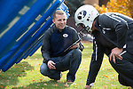 1310-76 117<br /> <br /> 1310-76 XOnano Smart Foam<br /> <br /> BYU Mechanical Engineering Masters student Jake Merrell demonstrates a smart foam he created called XOnano that can detect force. He is testing the foam in the padding of a football helmet with hopes that it can aid football teams in preventing the long term effects of concussions.<br /> <br /> October 30, 2013<br /> <br /> Photo by Jaren Wilkey/BYU<br /> <br /> &copy; BYU PHOTO 2013<br /> All Rights Reserved<br /> photo@byu.edu  (801)422-7322